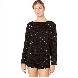 Plush Fleece-Lined Heart Lounge Pajama Sets